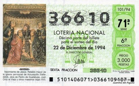 Décimo de Lotería 1994 / 101