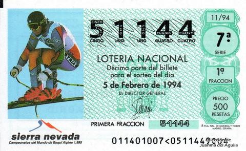 Décimo de Lotería 1994 / 11
