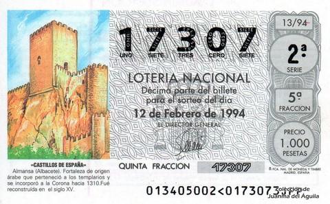 Décimo de Lotería 1994 / 13
