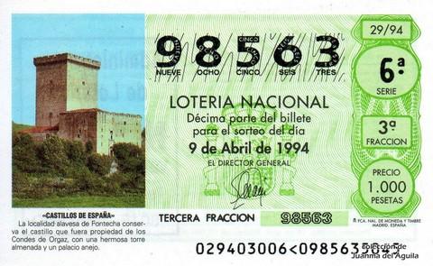 Décimo de Lotería 1994 / 29