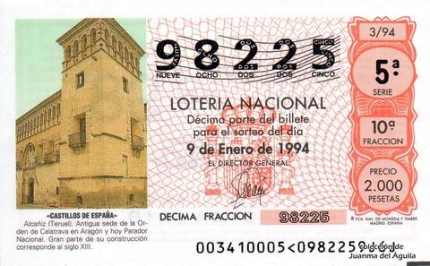 Décimo de Lotería 1994 / 3