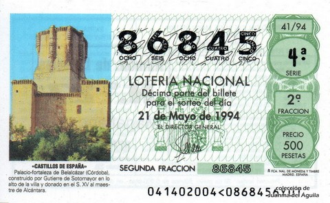 Décimo de Lotería 1994 / 41