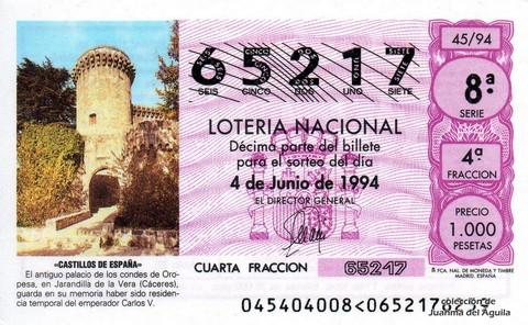 Décimo de Lotería 1994 / 45