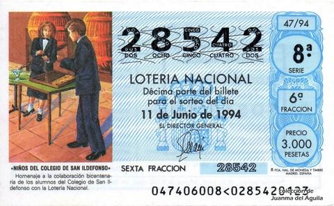 Décimo de Lotería 1994 / 47