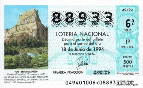 Décimo de Lotería 1994 / 49
