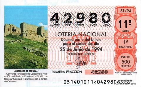 Décimo de Lotería 1994 / 51