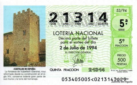 Décimo de Lotería 1994 / 53