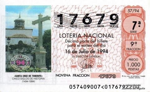 Décimo de Lotería 1994 / 57