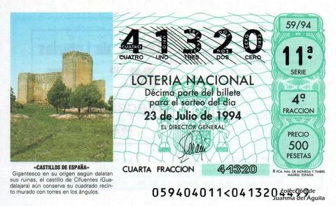 Décimo de Lotería 1994 / 59