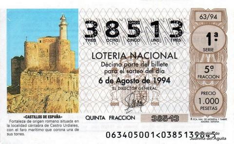 Décimo de Lotería 1994 / 63