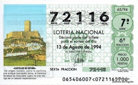 Décimo de Lotería 1994 / 65