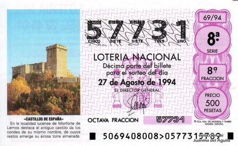 Décimo de Lotería 1994 / 69