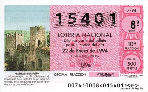 Décimo de Lotería 1994 / 7