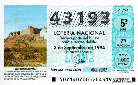 Décimo de Lotería 1994 / 71