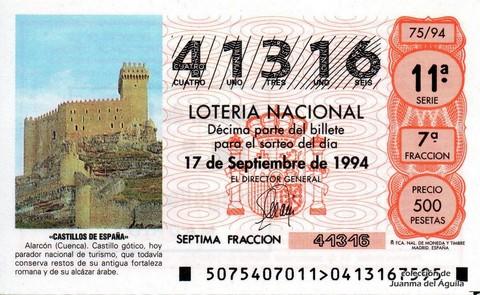 Décimo de Lotería 1994 / 75