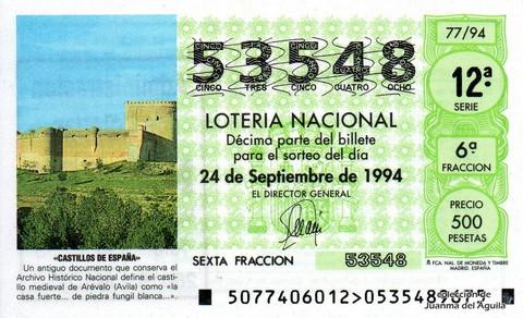 Décimo de Lotería 1994 / 77