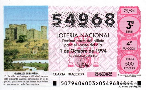 Décimo de Lotería 1994 / 79