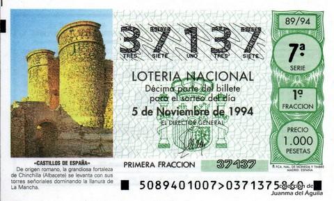 Décimo de Lotería 1994 / 89