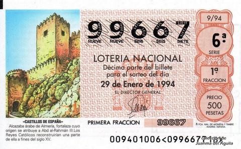 Décimo de Lotería 1994 / 9