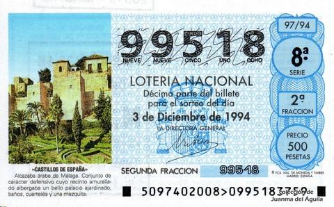 Décimo de Lotería 1994 / 97