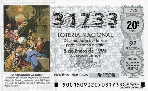 Décimo de Lotería 1995 / 1
