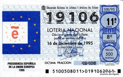 Décimo de Lotería 1995 / 100