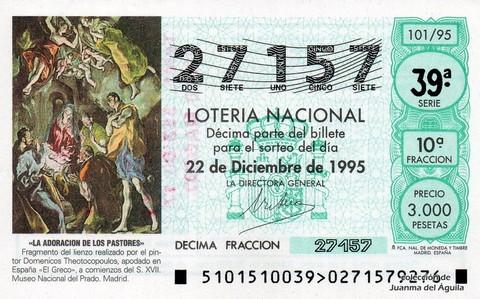 Décimo de Lotería 1995 / 101
