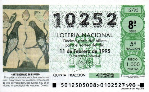 Décimo de Lotería 1995 / 12