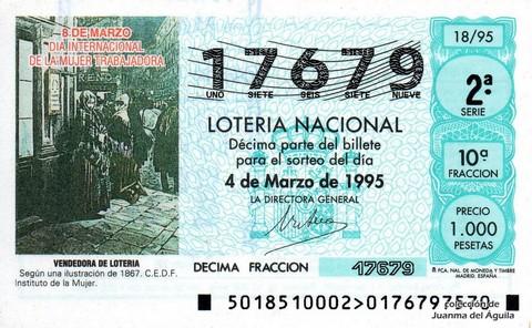 Décimo de Lotería 1995 / 18