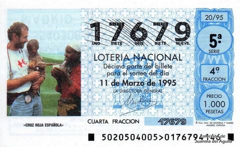 Décimo de Lotería 1995 / 20