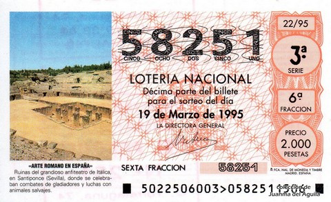Décimo de Lotería 1995 / 22