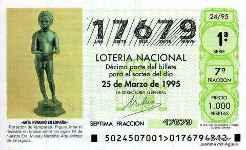 Décimo de Lotería 1995 / 24