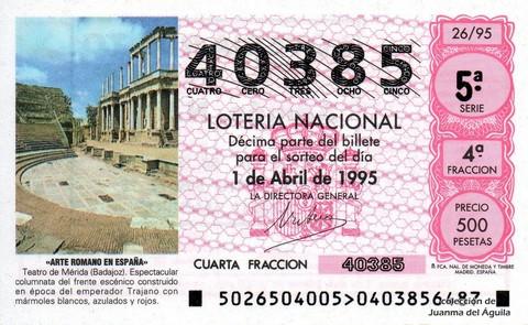 Décimo de Lotería 1995 / 26