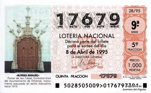 Décimo de Lotería 1995 / 28