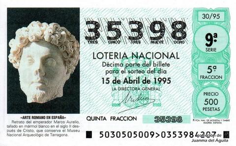 Décimo de Lotería 1995 / 30