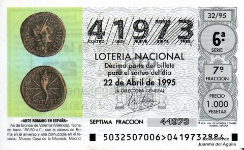 Décimo de Lotería 1995 / 32
