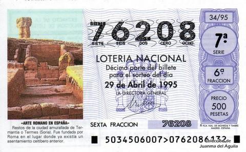 Décimo de Lotería 1995 / 34