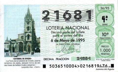 Décimo de Lotería 1995 / 36