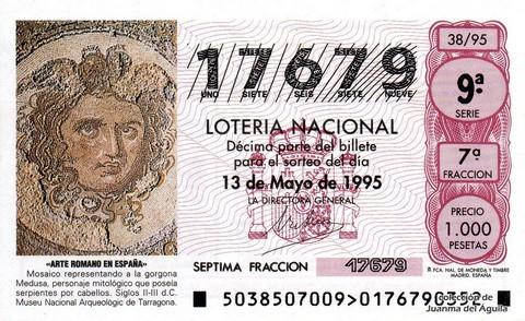 Décimo de Lotería 1995 / 38