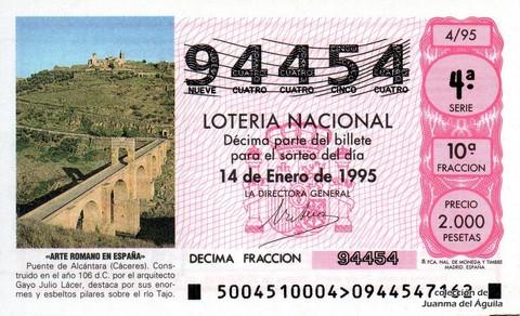 Décimo de Lotería 1995 / 4