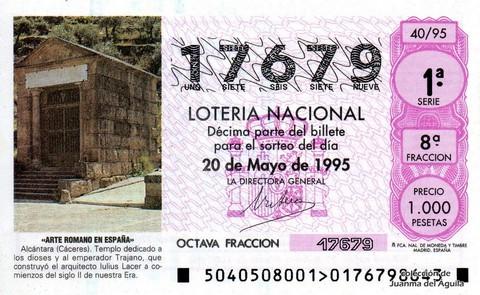 Décimo de Lotería 1995 / 40