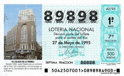 Décimo de Lotería 1995 / 42