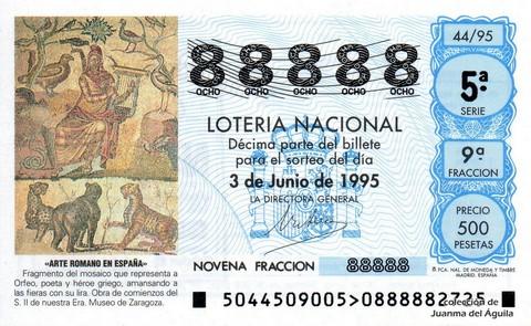 Décimo de Lotería 1995 / 44