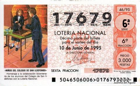 Décimo de Lotería 1995 / 46