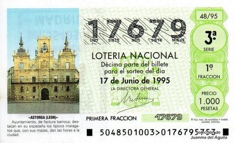 Décimo de Lotería 1995 / 48