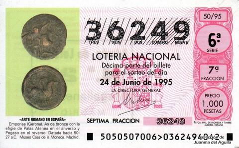 Décimo de Lotería 1995 / 50