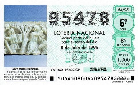 Décimo de Lotería 1995 / 54