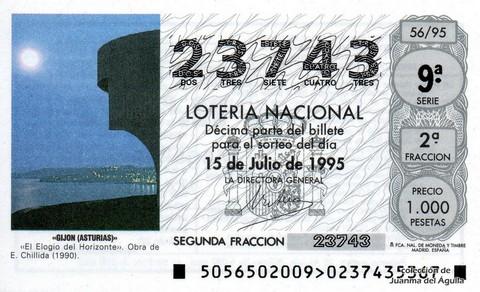 Décimo de Lotería 1995 / 56