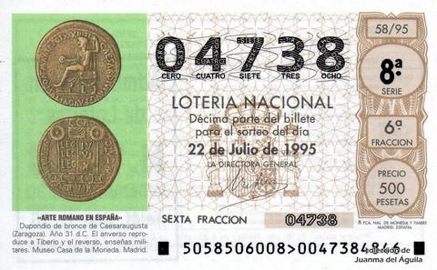 Décimo de Lotería 1995 / 58