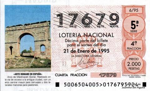 Décimo de Lotería 1995 / 6